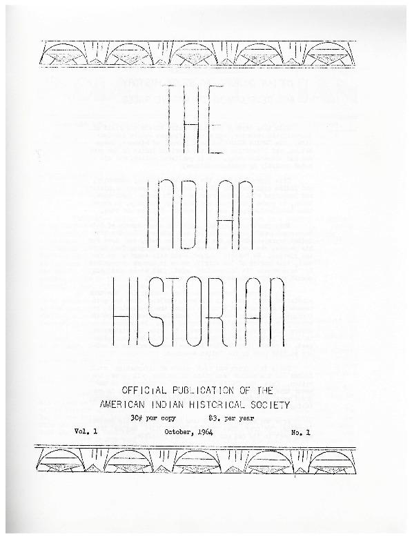 The Indian Historian, October 1964, V1, N1.pdf