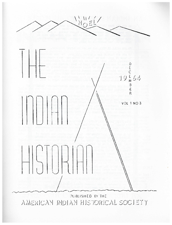 The Indian Historian, Dec. 1964, V1, N3.pdf