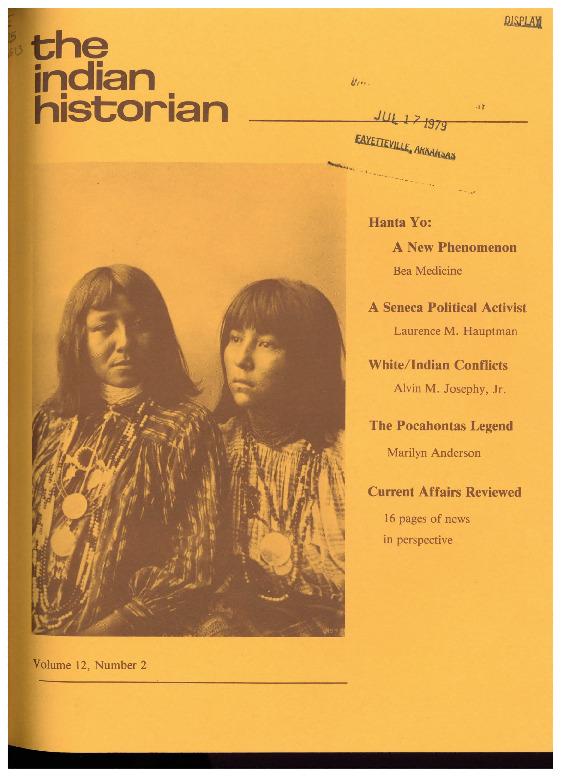 The Indian Historian, Summer 1979, V12, N2.pdf
