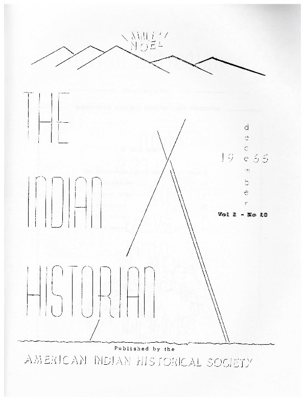 The Indian Historian, Dec 1965, V2, N10.pdf