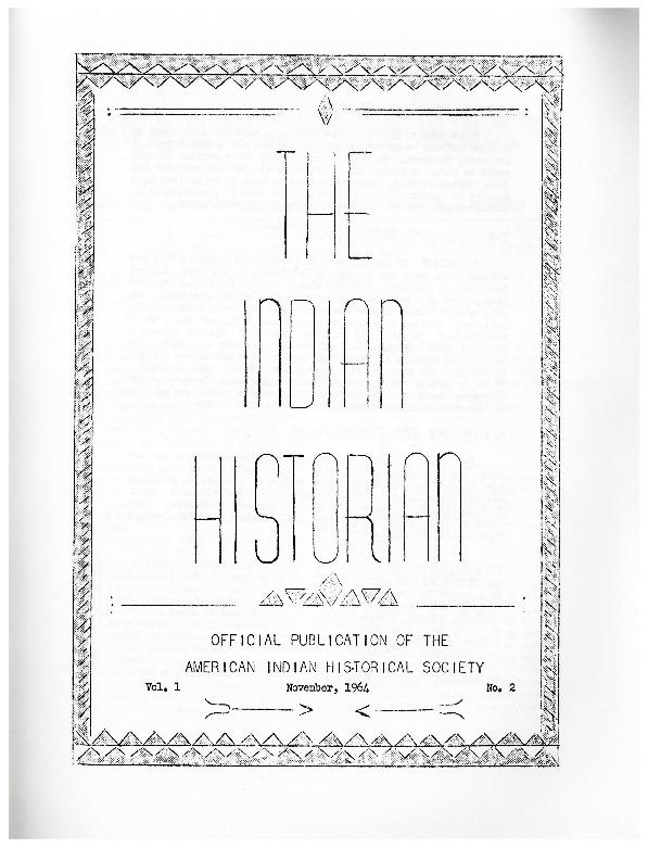The Indian Historian, Nov. Dec. 1964, V1, N2.pdf