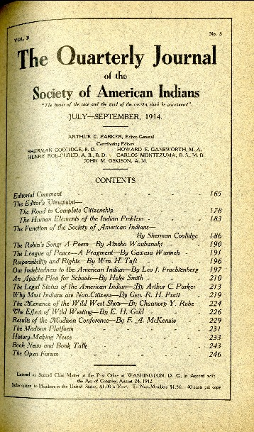 The Quarterly Journal of the Society of American Indians v. 2 no. 3 (July-September 1914)